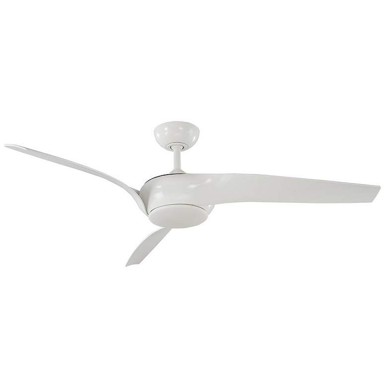 "56"" Modern Forms Nirvana White LED Wet Rated Ceiling Fan more views"