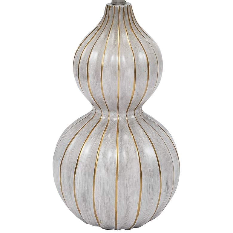 Cream and Gold Gourd Table Lamp more views