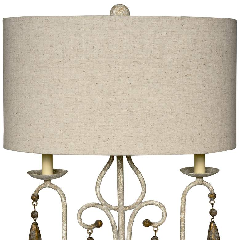 Wesley Distressed White and Brown Table Lamp more views