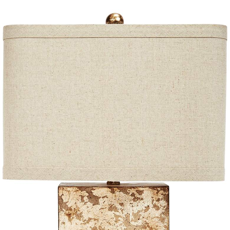 Alan Cement and Antique Gold Square Table Lamp more views