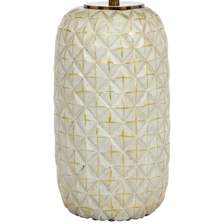 Colin Cement Geometric Ceramic Table Lamp with Gold Accents more views