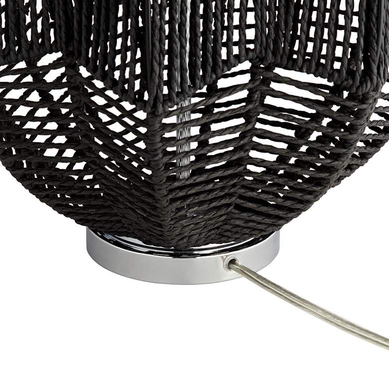 North Shore Black String Basket Table Lamp more views