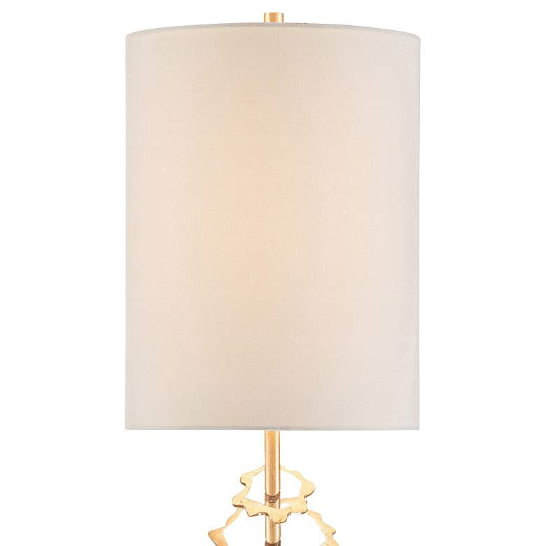 John Richard Floating Disc Gold Leaf Buffet Table Lamp more views