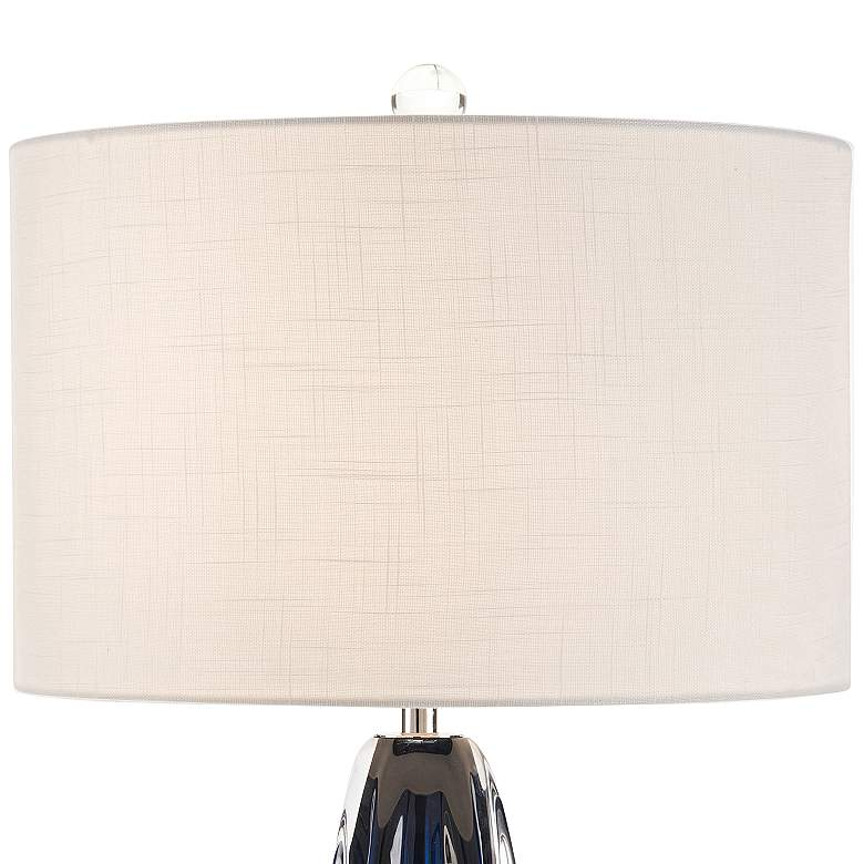 John Richard Amalfi Blue and Clear Glass Table Lamp more views