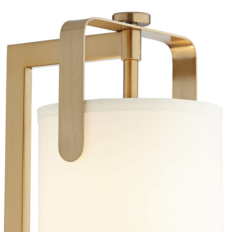 Kinzie Warm Gold Metal Downbridge Table Lamp with USB Port more views