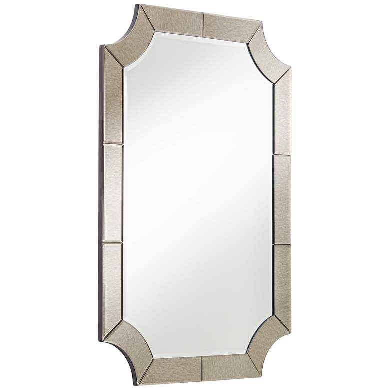 "Possini Euro Surri 27 3/4"" x 40"" Antiqued Wall Mirror more views"