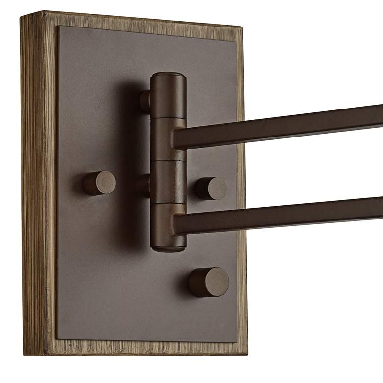 Sitka Bronze and Wood Plug-In Swing Arm Wall Lamp more views