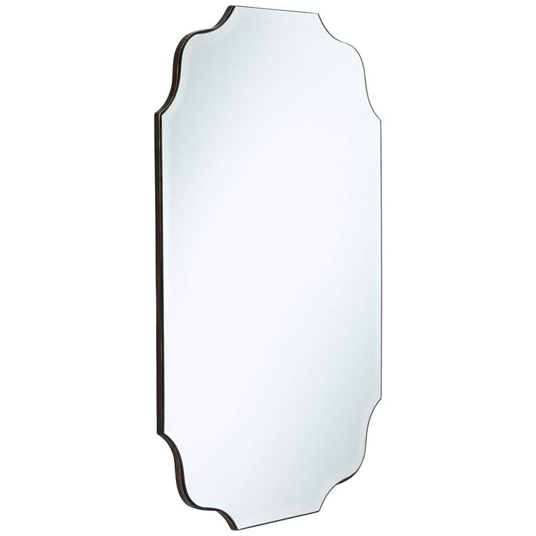 "Vita Oval Wave Edge 23 1/2"" x 36"" Frameless Wall Mirror more views"