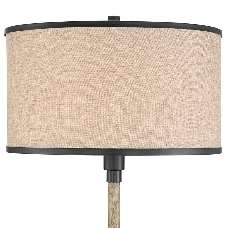Possini Euro Andover Bronze and Faux Wood Rustic Floor Lamp more views