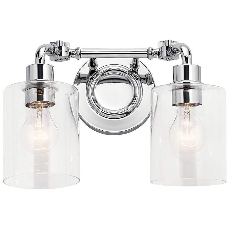"Kichler Gunnison 9 3/4"" High Chrome 2-Light Wall Sconce more views"