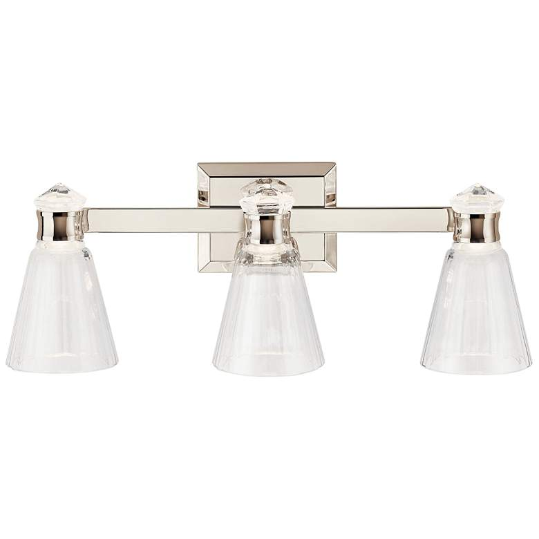 "Kichler Kayva 24""W Polished Nickel 3-Light LED Bath Light more views"