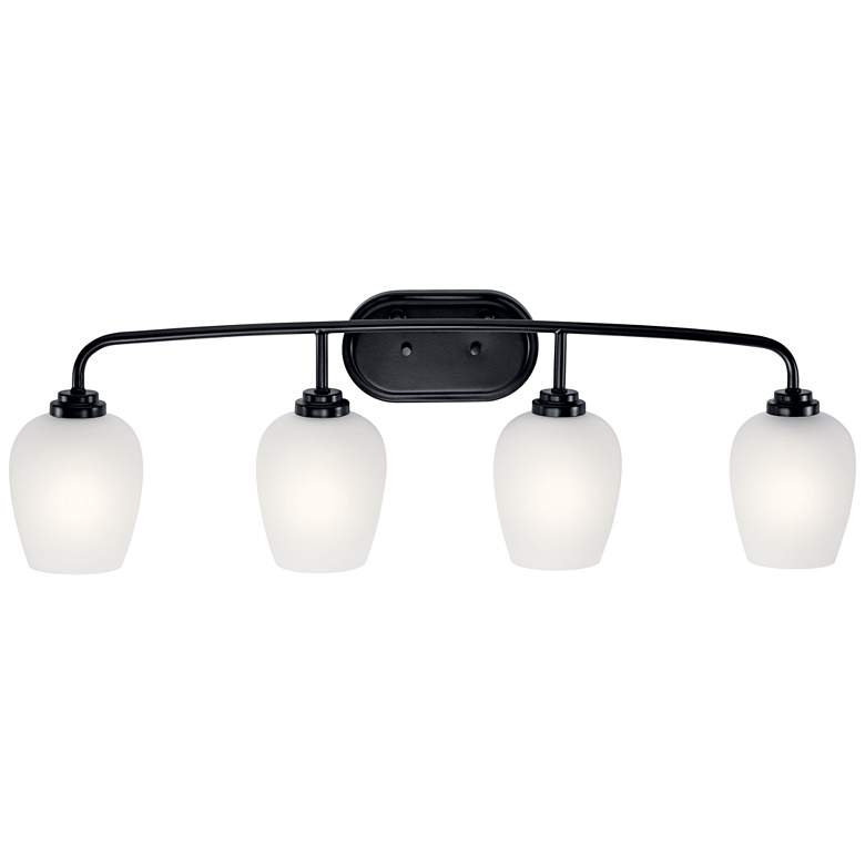 "Kichler Valserrano 33 1/2"" Wide Black 4-Light Bath Light more views"