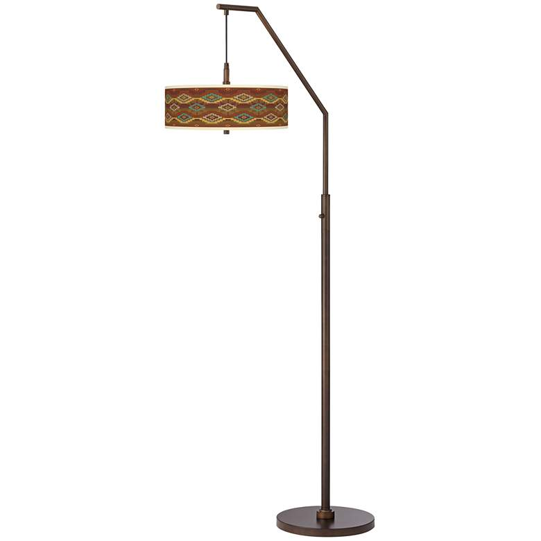 Southwest Sienna Bronze Downbridge Arc Floor Lamp more views