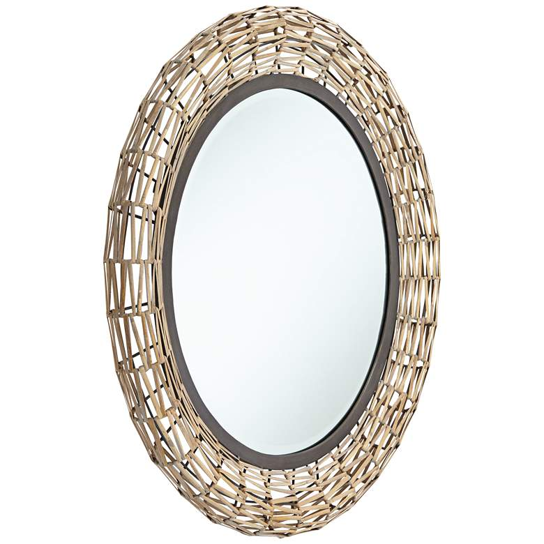 "Aptos Natural Rattan Weave 32"" Round Wall Mirror more views"