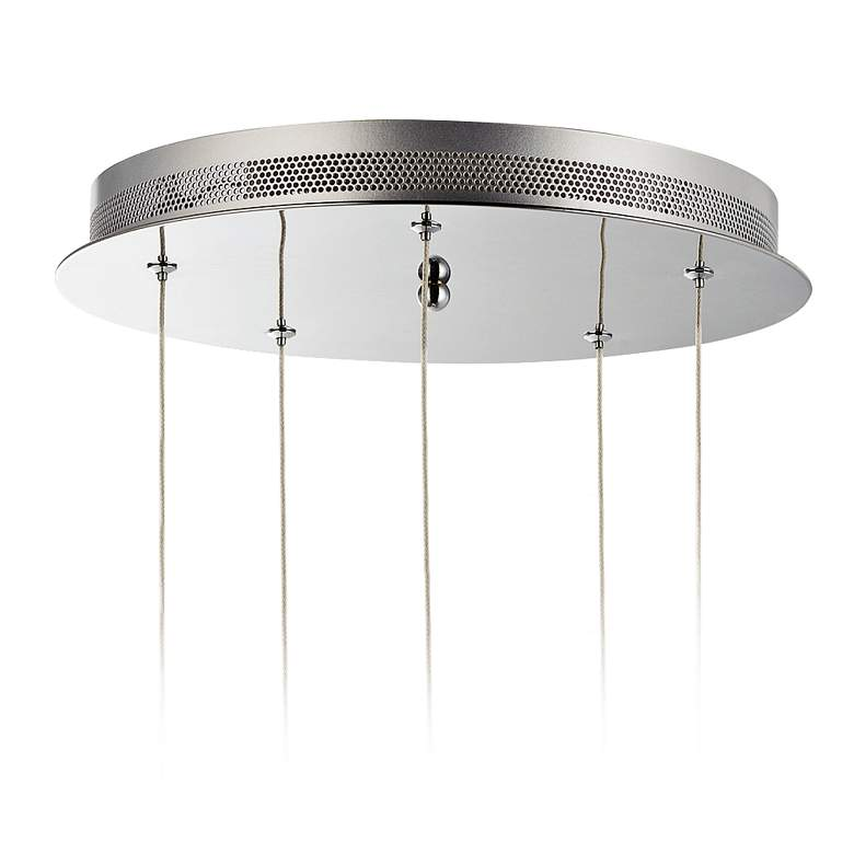 "ET2 Swank 15"" Wide Polished Chrome LED Multi Light Pendant more views"