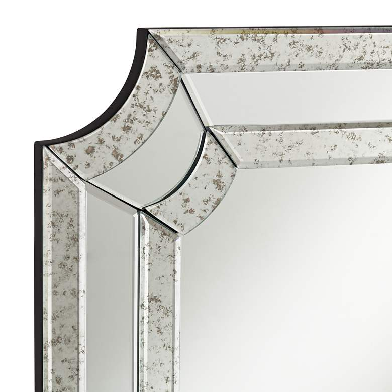 "Alli 28"" x 40"" Antiqued Edge Cut Corner Wall Mirror more views"