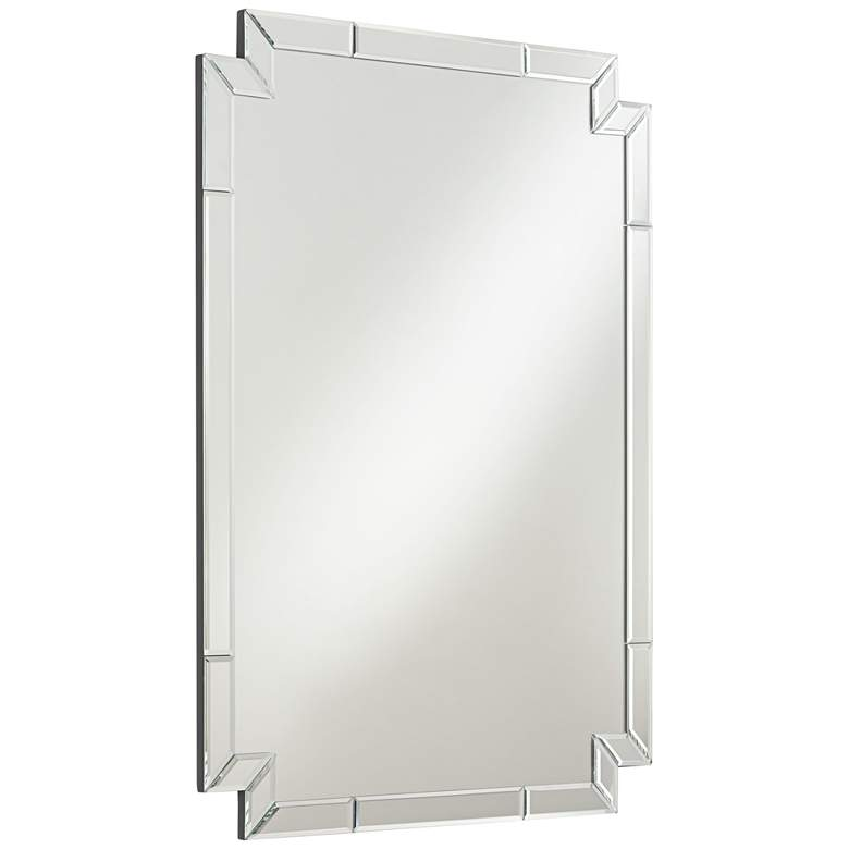 "Possini Euro Redi 26"" x 36"" Cut Corner Edge Wall Mirror more views"