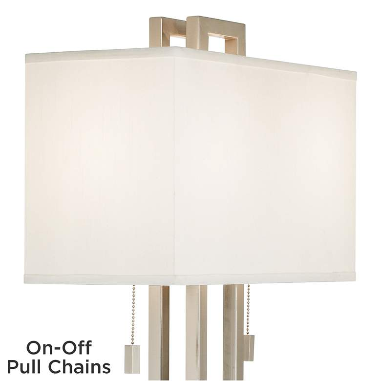 Possini Euro Design Brushed Nickel Rectangle Table Lamp more views