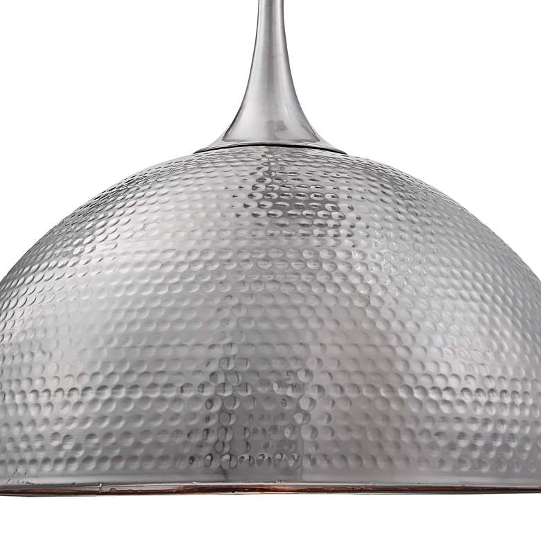 "Raynott 23 1/2"" Wide Brushed Nickel Dome Pendant Light more views"