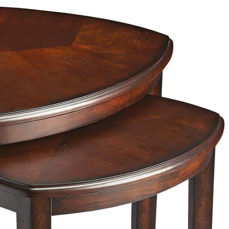 "Butler Finnegan 24 3/4"" Wide Chocolate Wood Nesting Tables more views"