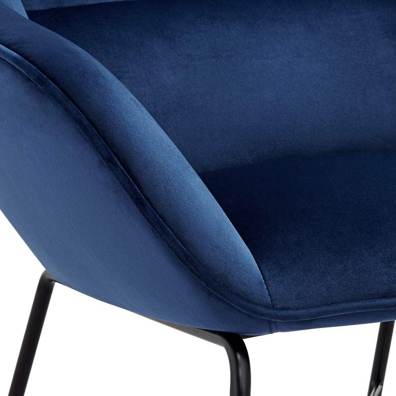 Hemingway Blue Velvet Lounge Chair with Ottoman more views