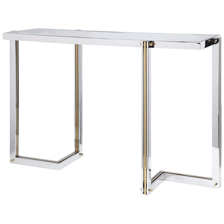 "Uttermost Locke 50 3/4"" Wide Polished Nickel Console Table more views"
