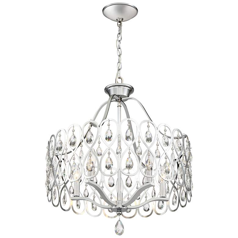 "Quoizel Lulu 22"" Wide Polished Chrome Crystal Pendant Light more views"