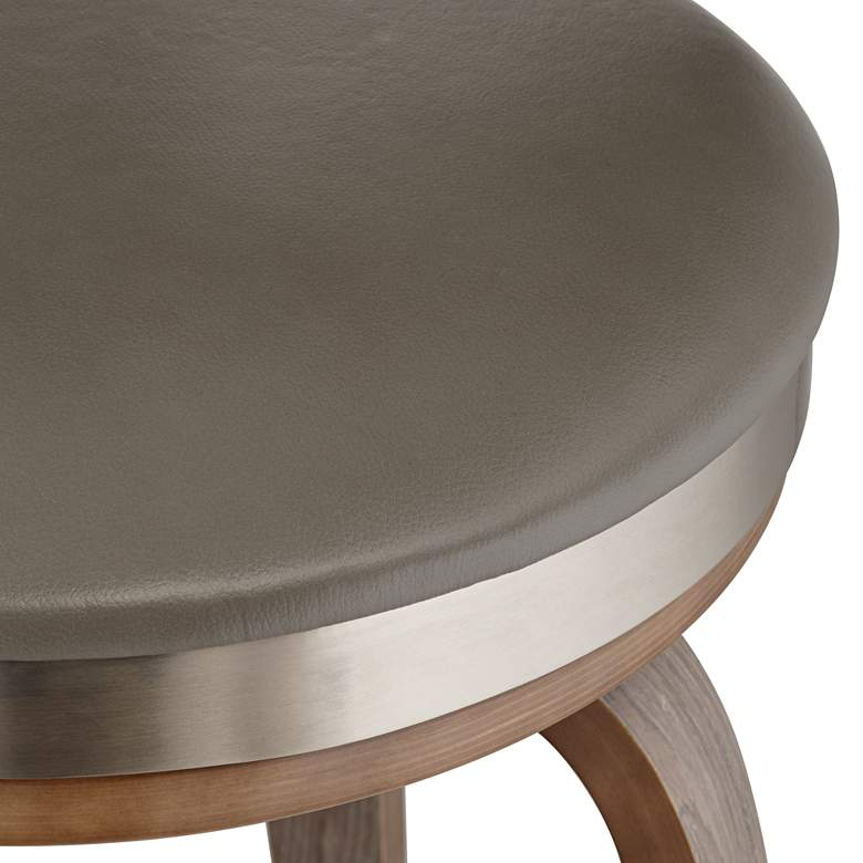 "Tilden 26"" High Gray Leather Counter Stool more views"