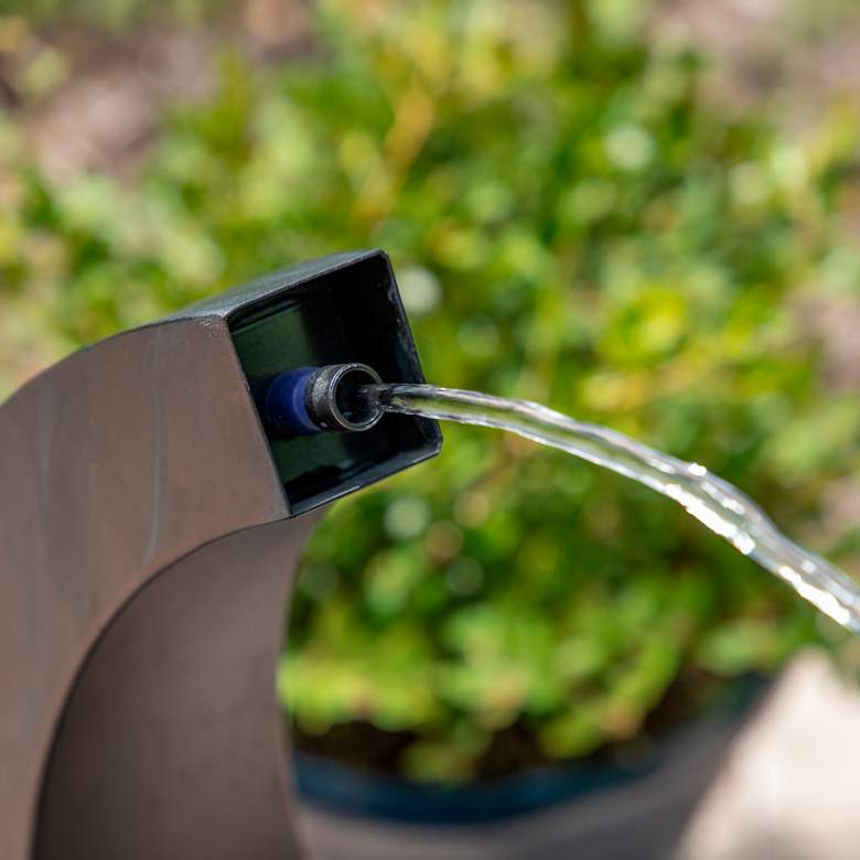 "Circlet 27 1/2"" High Spitter Bubbler Modern Fountain more views"