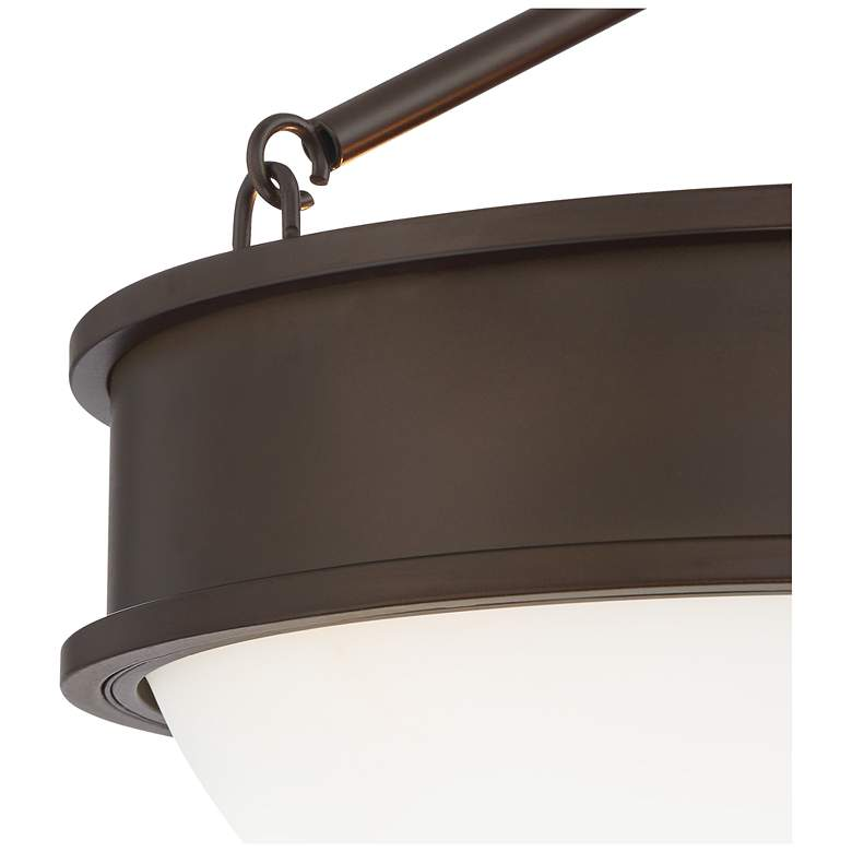 "Rory 16"" Wide Bronze and Opal Glass Bowl Ceiling Light more views"