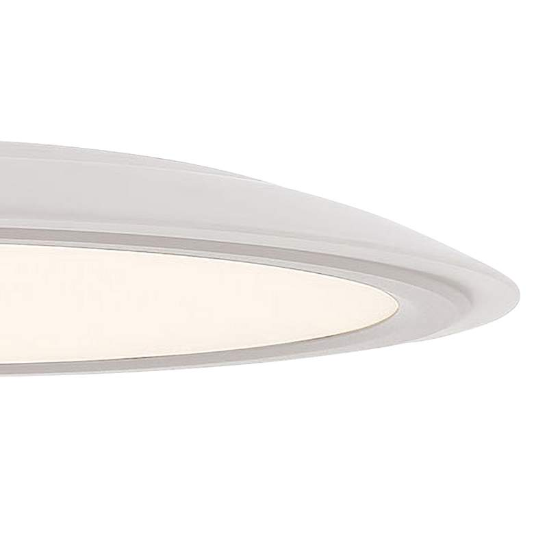 "George Kovacs Hover 19"" Wide Matte White LED Pendant Light more views"