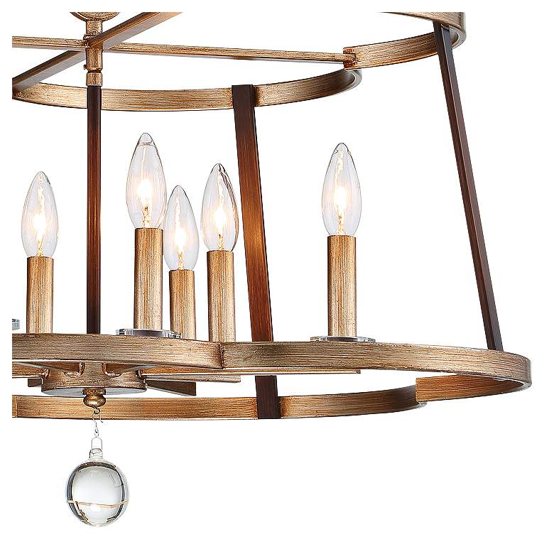 "Ava Libertine 26""W Gold and Bronze 8-Light Foyer Chandelier more views"