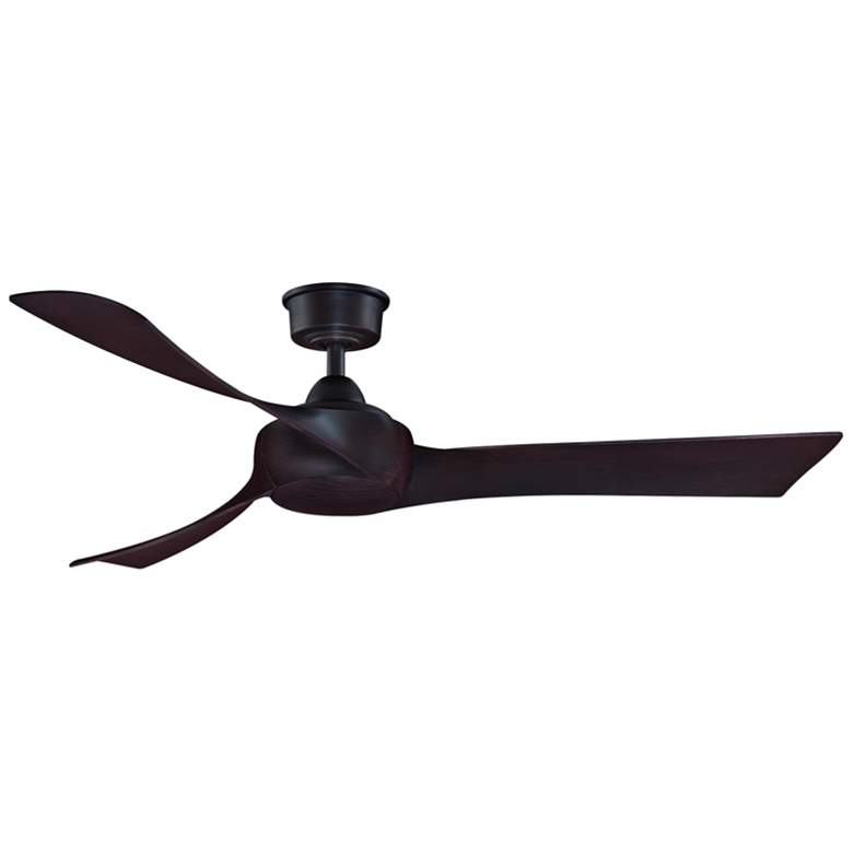 "52"" Fanimation Wrap Dark Bronze LED Damp Ceiling Fan more views"