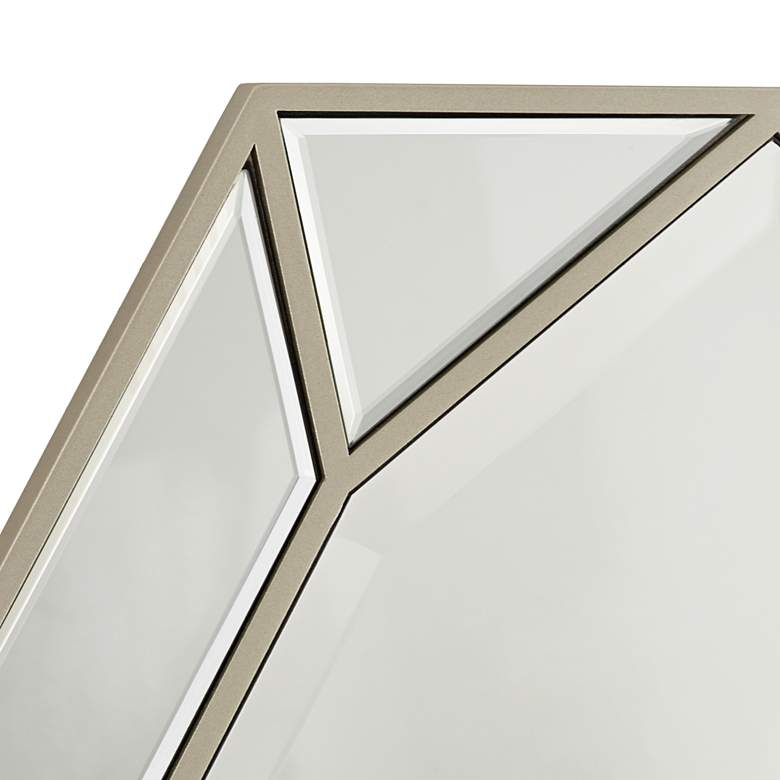 "Possini Euro Garin 28"" x 38"" Warm Silver Wall Mirror more views"
