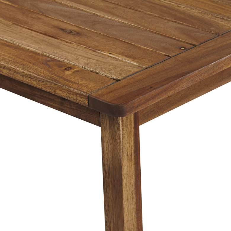 "Perry 43 1/4"" Wide Wood Outdoor Coffee Table more views"