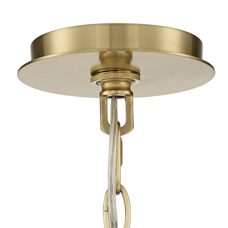 "Tila 29 1/2"" Wide French Brass and Glass 12-Light Chandelier more views"