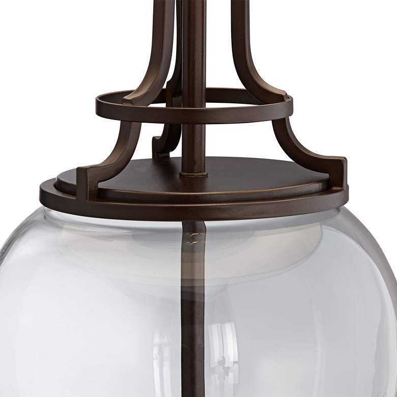Possini Euro Anne Oil-Rubbed Bronze and Glass Table Lamp more views