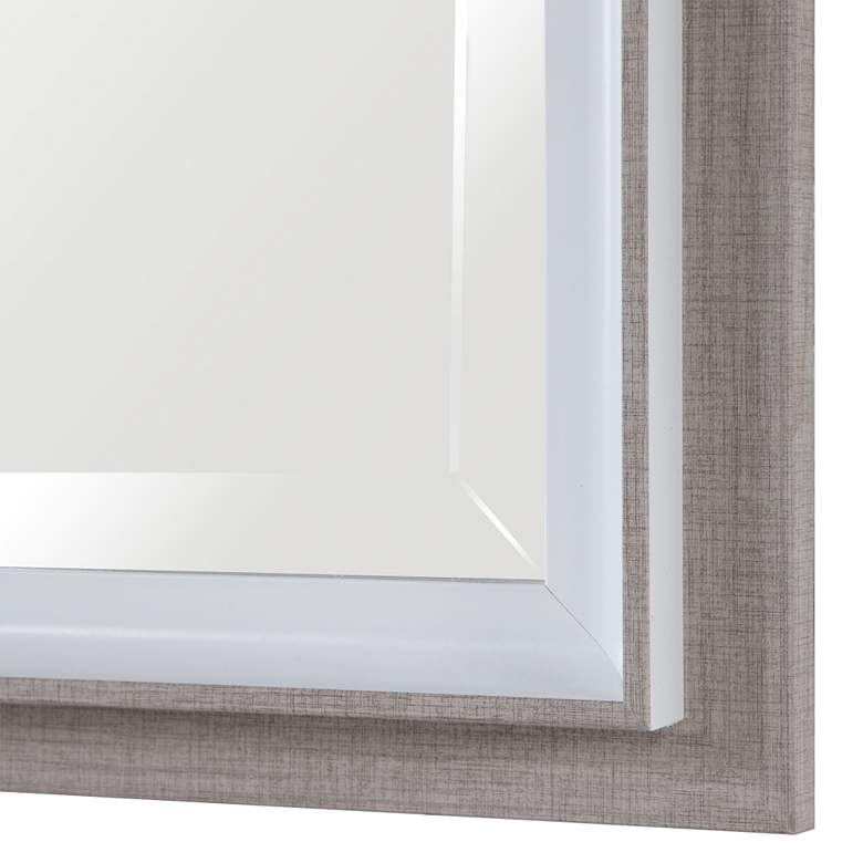 "Mitra White Oatmeal 28 1/4"" x 40 1/4"" Vanity Wall Mirror more views"