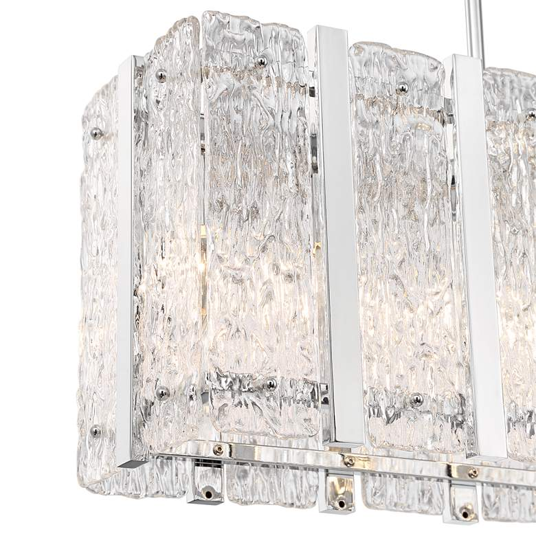 "Adaline 35 1/4"" Wide Glass Kitchen Island Light Pendant more views"