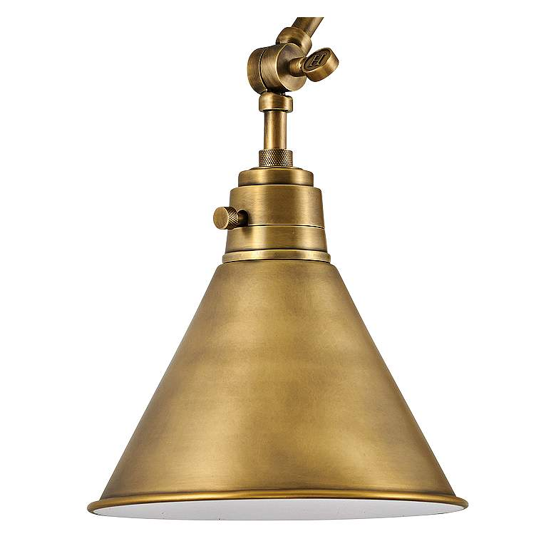 Hinkley Arti Heritage Brass Joint Arm Hardwire Wall Lamp more views