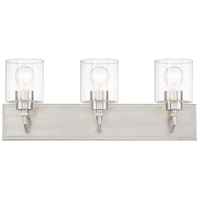 "Possini Euro 24"" Wide Clear Glass Modern Vanity Wall Light more views"