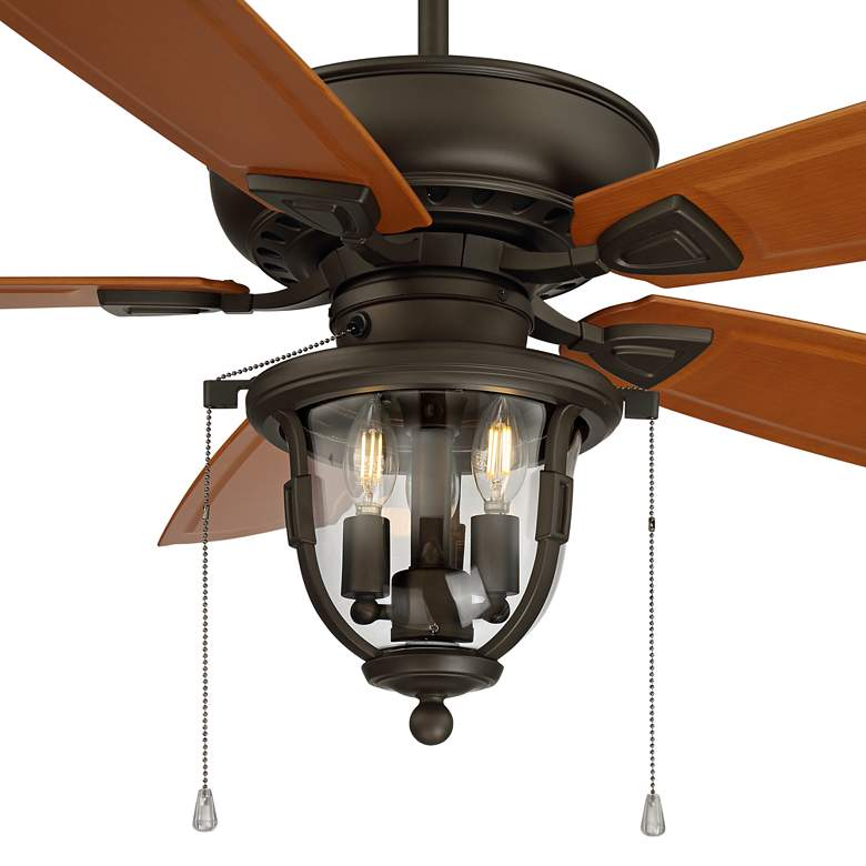"52"" Casa Cordova Bronze Wet Rated LED Ceiling Fan more views"