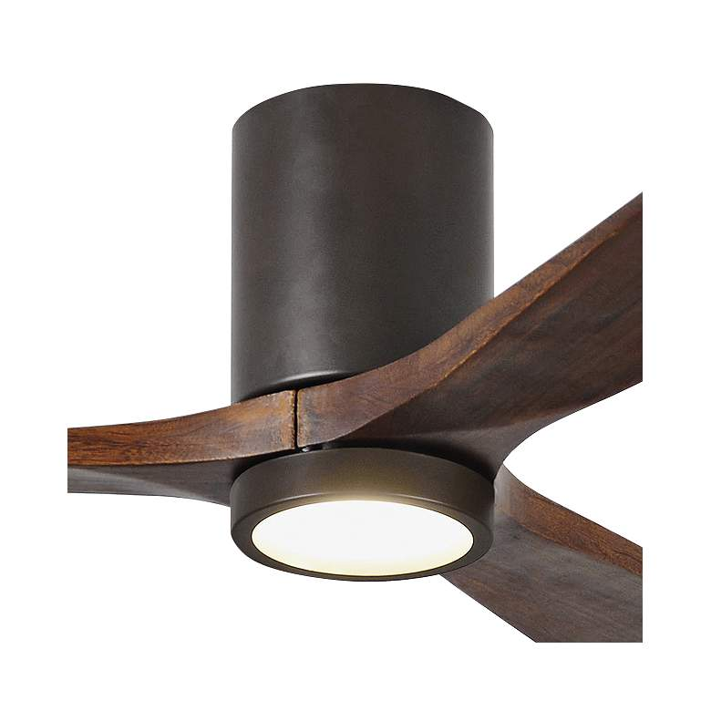 "52"" Irene-3HLK Bronze 3-Blade LED Damp Hugger Ceiling Fan more views"