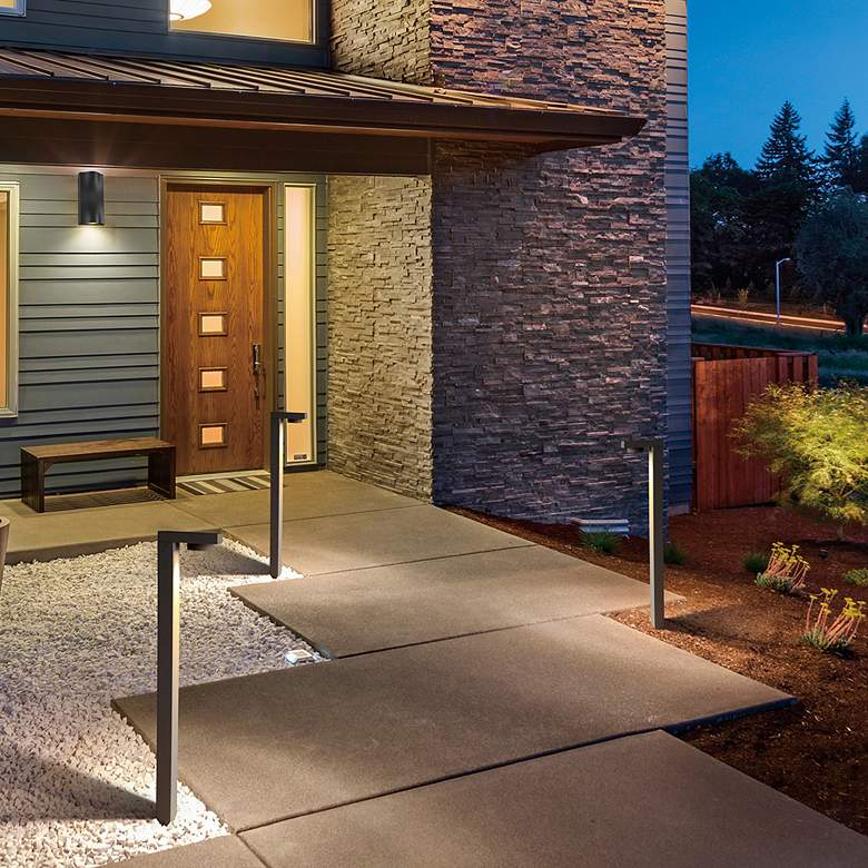 "Eurofase 25 3/4""H Graphite Gray L-Shaped LED Bollard Light more views"
