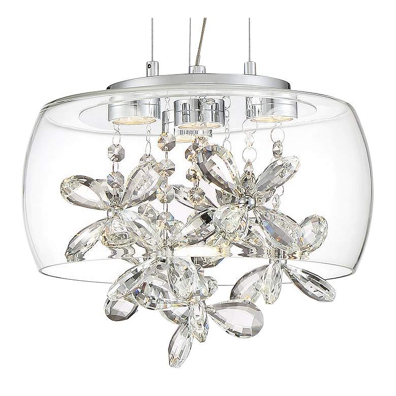 "Zeev Destiny 11""W Chrome and Glass LED Mini Pendant Light more views"