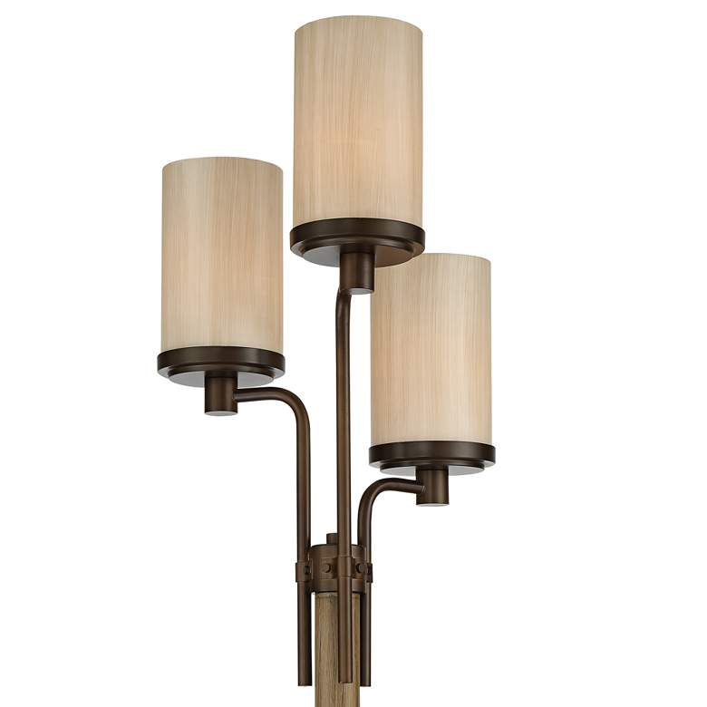 Astoria Faux Wood and Bronze 3-Light Tree Floor Lamp more views