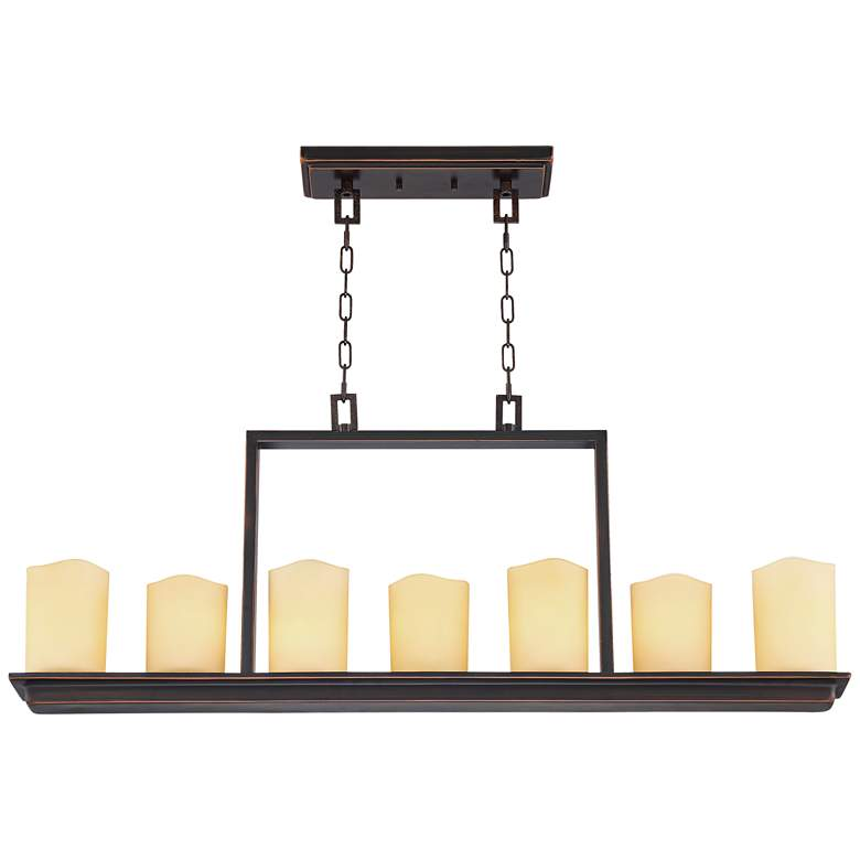 "Moniker 38"" Wide Oil-Rubbed Bronze 7-Light Island Chandelier more views"