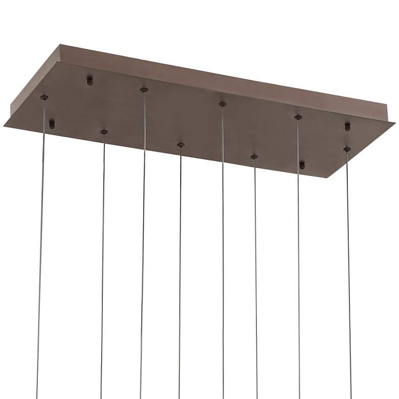 "Kate 31 1/2""W Bronze Multi Rectangular LED Pendant Light more views"