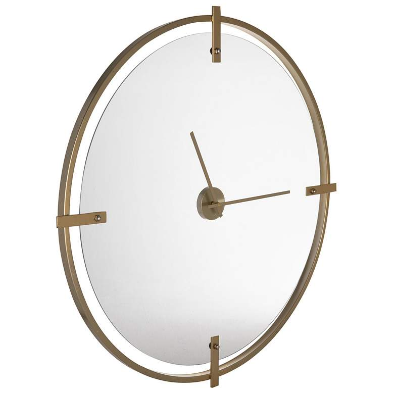 "Cooper Classics Electra Modern Gold 36"" Round Wall Clock more views"