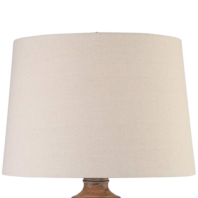 Coloma Textured Black and Brown Southwest Jar Table Lamp more views